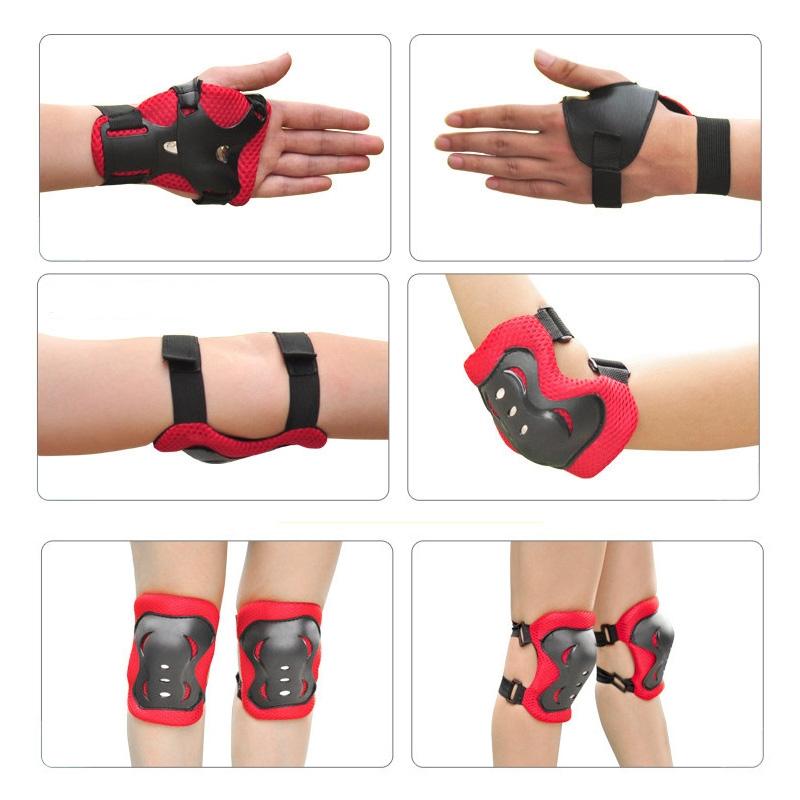 Best Price 6PCS Children Skateboard Roller Ice Skating Knee Elbow Bicycle Skateboard Wrist Protective Pad Kit Gear Set(China (Mainland))
