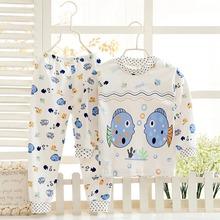 autumn clothes Cotton clothing sets suits kids boy girl spajamas children underwear sleepwear T Shirt Tops
