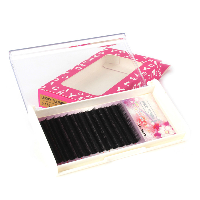 0.15 mm J Curl Thick Long Soft Fake False Eye Lashes Kit Case Make Up Extensions(China (Mainland))