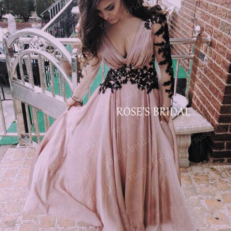long elegant prom dresses with sleeves « bella forte glass studio