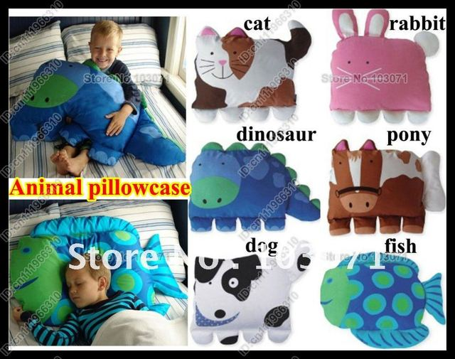 Baby Kid Toddler Cartoon Animal Pillowcase Standard Sham Sleep Head Pillow Travel Support Cushion Pillowslip Cover Without Inne