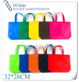 32*26cm 20pcs/lot Wholesales reusable bags non woven shopping bags Women bags Ourdoor Travel Bag with custom logo(China (Mainland))