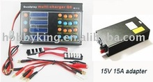 Synchronous charge 4 group battery Battery Balance Charger Q6 B6 charger 15V 5A adapter