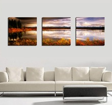 """Unframed Painting """"sunset Lakeside Scenery"""" Landscape Paintings By Numbers Hd Pictures Decorations Printing On Canvas For Home(China (Mainland))"""