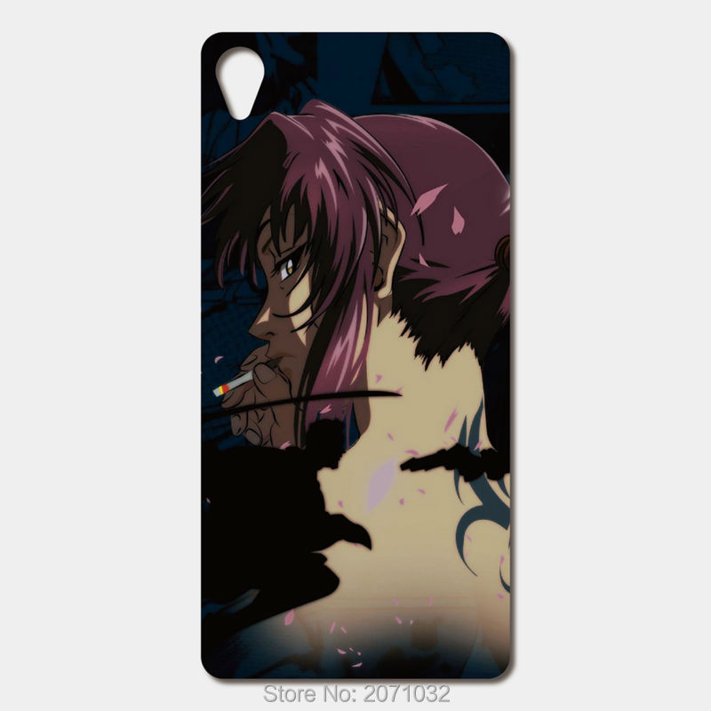 For Sony Xperia Z3 Z4 Z5 Z2 Z1 Compact Z L36H C3 E3 E4 M2 M4 Aqua M C1904 ZR For Huawei P8 Lite anime black lagoon Phone cases(China (Mainland))