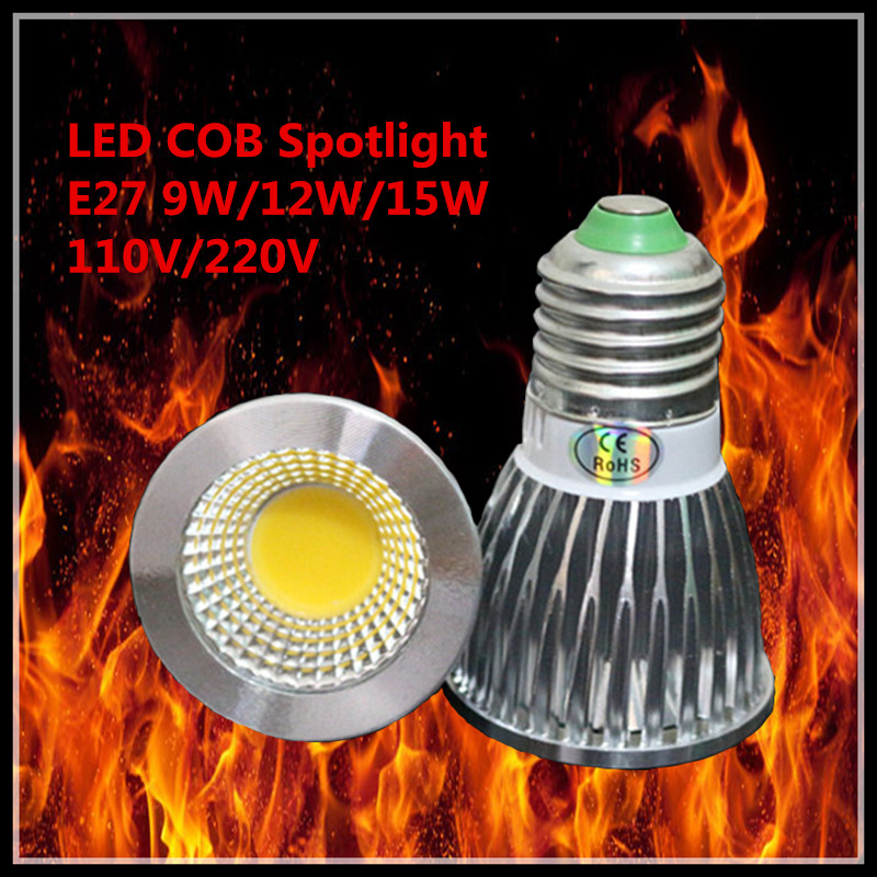 10Pcs LED Lamps E27 110V/220V Light Bulb Smart IC Real Power 9W 12W 15W High Brightness Lampada LED Bombillas Warm/cool white(China (Mainland))