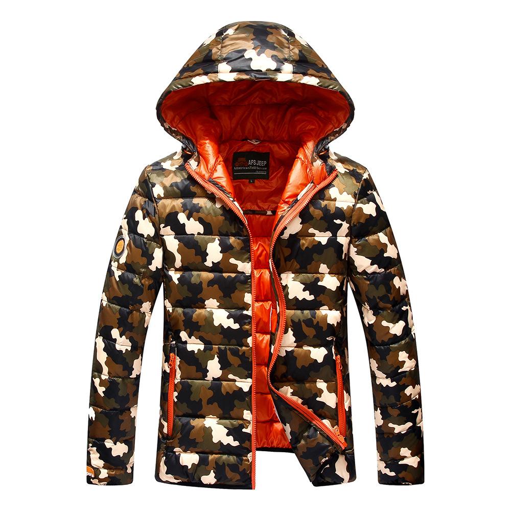 2015 New Designer Brand Fashion Winter Jacket Men Camo