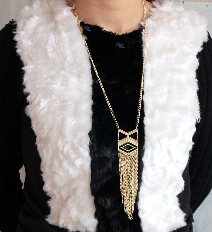 Spot gold alloy jewelry wholesale fashion new ms tassel necklaces Long sweater chain(China (Mainland))