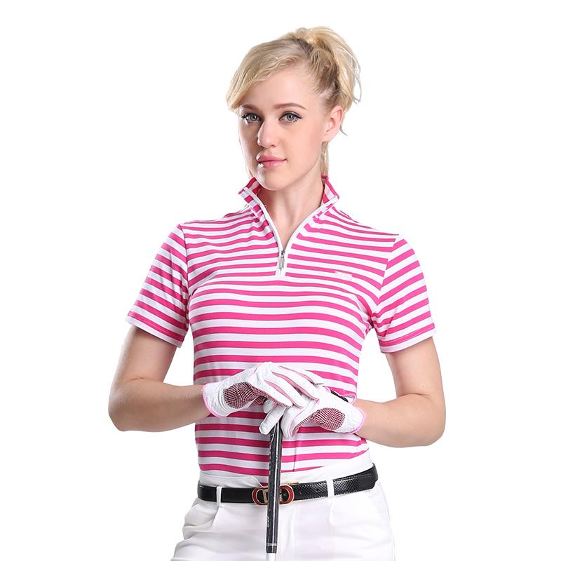 Brand Golf shirts for women ladies golf polo quick dry shirt sports clothing fashion 2016 short sleeve polyester golf shirts(China (Mainland))