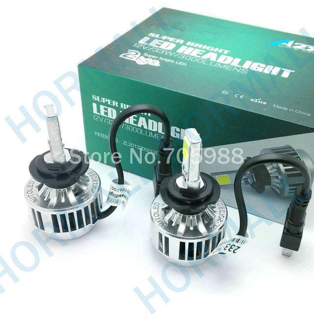 33W H7 COB LED Car Headlight Headlamp Auto Lamps LED Kit 3000LM 6000k 3000k Bulb Light H1 H3 H8 H9 H11 HB3 HB4 9005 9006 WHITE(China (Mainland))