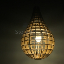 EMS Free Shipping Wholesale 200Pieces DIY Laser Cut Plywood Lamp Clever Lightbulb Light Wooden Bulb Pendant Floor Lamp(China (Mainland))