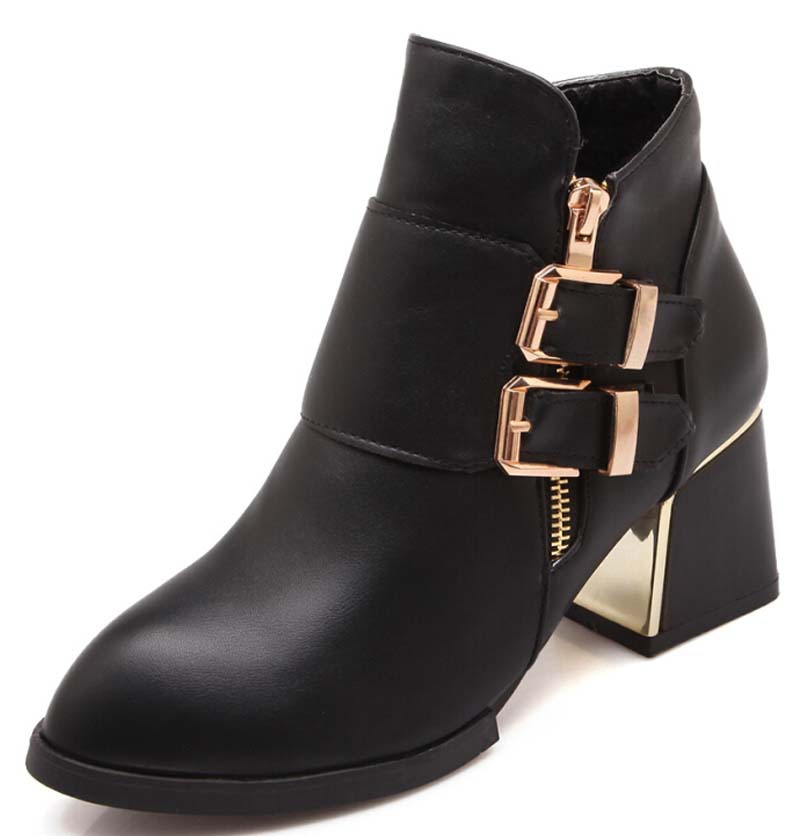 Simple Comfortable Ankle Boots Platform High Heel Booties For Women Fashion