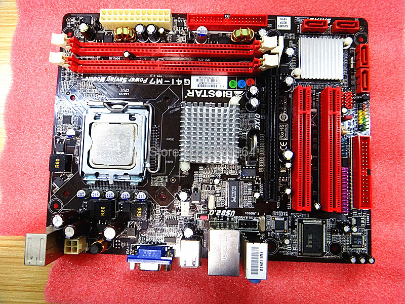 Free shipping for Biostar G41-M7 DDR2 fully integrated motherboard supports Core 2 Duo Quad-Core(China (Mainland))