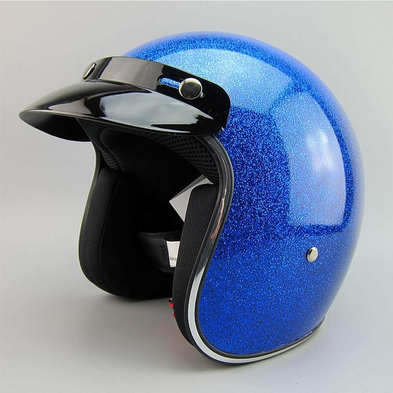 free shipping Sports helmet motorcycle export Japan glass steel half glitter Vintage Harley helmet 3/4 half helmet(China (Mainland))