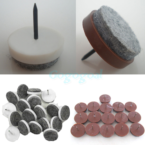 16pcs/set Felt Nail Protector Pad Floor Skid Furniture Leg Chair Glide Slide Table DIY[01040238](China (Mainland))