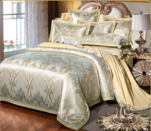Fanaijia Europe Luxury Royal Bedding Sets Queen Size Satin Jacquard Cotton Duvet Cover Bed Cover Sheets Set Pillowcase 4/Pcs(China)