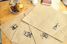 2015 Cotton dinning table Mat Special hot sale household supplier!Jute Nostalgic old style coaster placemat insulation pads.(China (Mainland))