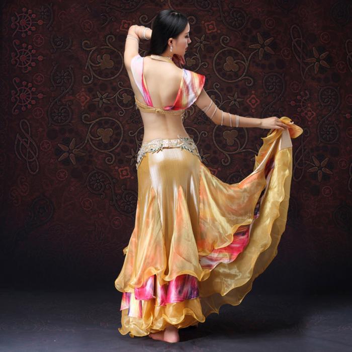 Женский бюстгальтер с юбкой костюм для танца живота искусственный алмазный