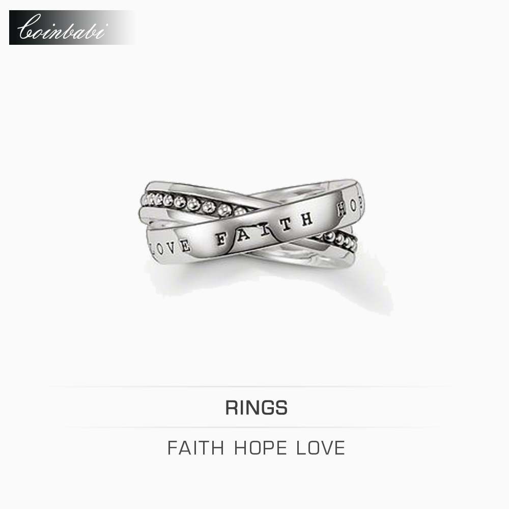 Rings Faith, Love, Hope 925 Sterling Silver Gift For Women & Men Thomas style Rebel at Heart Ring TS New Fashion Jewelry(China (Mainland))