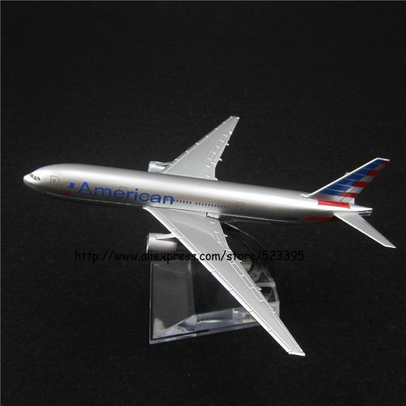 16cm Alloy Metal Air American AA Airlines Boeing 777 B777 Airways Airplane Model Plane Model W Stand Aircraft Toy Gift(China (Mainland))