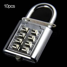 Promotion! 10PCS 8 Digit Security Combination Code Padlock Travel Luggage cabinet Lockers Lock Resettable Tool Box Wholesale