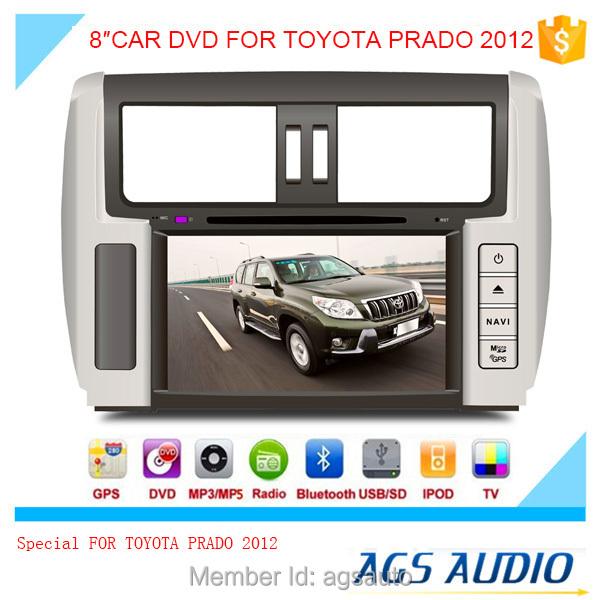 AGS special 8'' touch screen car dvd player for TOYOTA PRADO 2012(China (Mainland))
