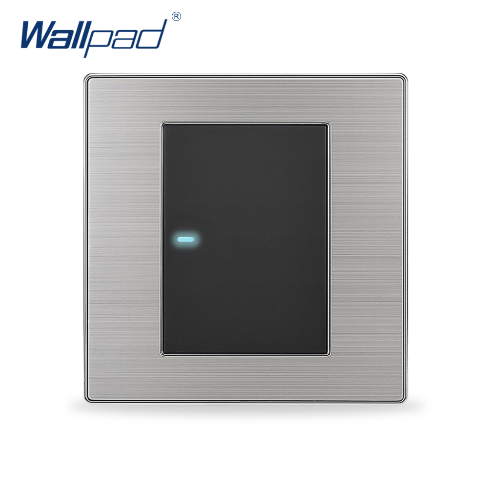 2017 Hot Sale 1 Gang 1 Way Wallpad Luxury LED Light Switch Push Button Wall Switches Interrupteur 10A AC 110~250V(China (Mainland))