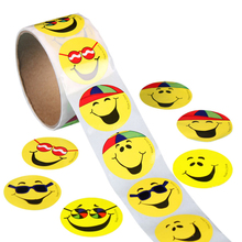 100 шт. Kawaii Emoji Наклейки Улыбка Лица Для Ноутбуков Детская Школа Награда Smiley Дети Bubble Наклейки Мультфильм Игрушки
