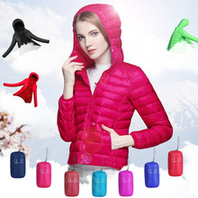 winter designer women jacket Ultra-thin white duck girl outdoor snow parka jacket thin duck down jacket women