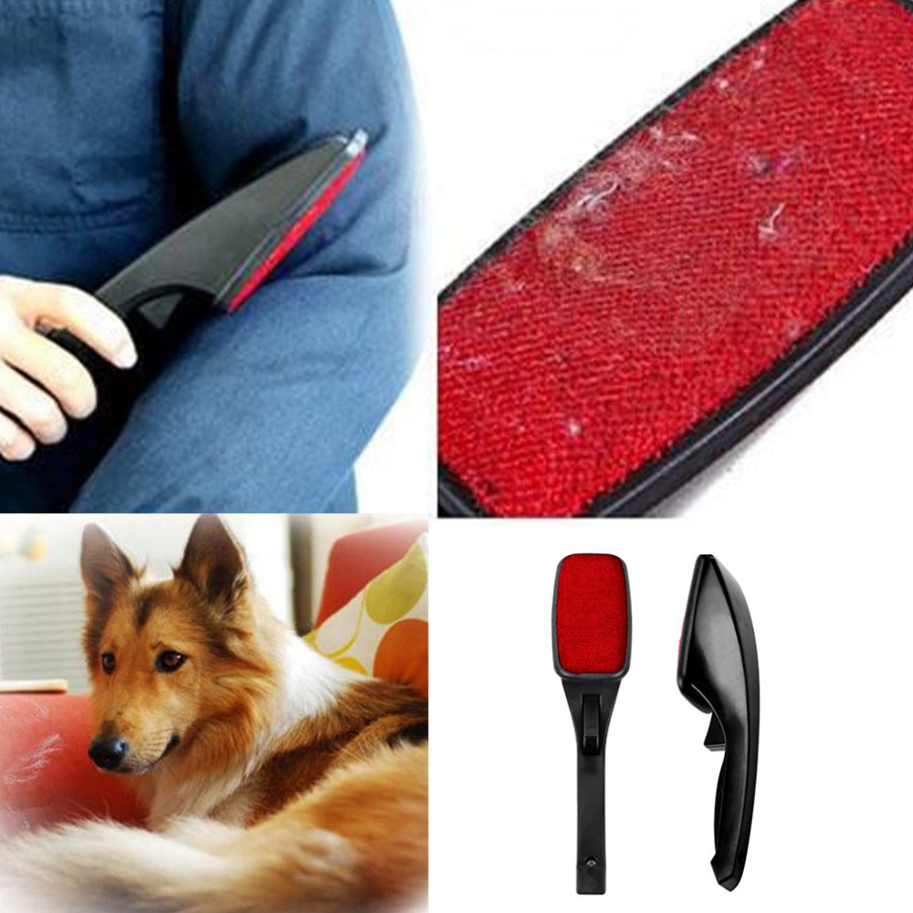 Hot Static Brush Clothes Magic Lint Dust Brush Pet Hair Remover Clothing Cloth Dry Cleaning with Rotatable Brush New(China (Mainland))