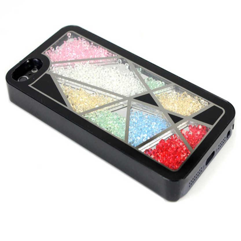 Del Hot Bird Nest Skin Swarovski Element Crystal Bling Cover Case For iPhone 5 Black Apr07(China (Mainland))