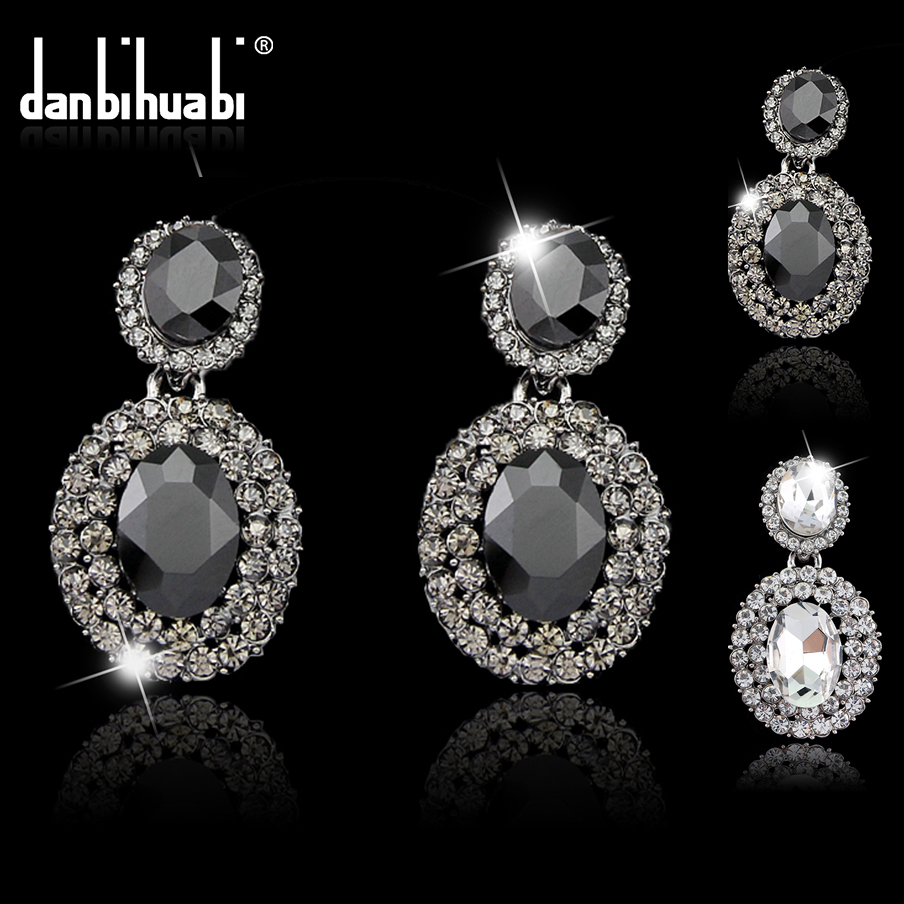 Brincos pendientes Crystal Earrings for women 2015 sale Statement fashion costume jewelry Women Black Geometry vintage Earrings(China (Mainland))