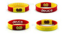 6pcs new arrival power silicone bracelet With the KYRIE IRVING style basket ball sport power bangle keep balance wristband(China (Mainland))