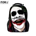 FORUDESIGNS Fashion Men Women Travel Backpacks Bag Funny Harley Quinn Joker Printing Backpack Children Cartoon School