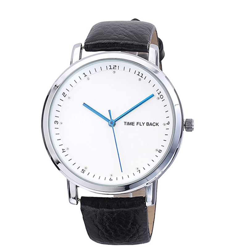 Fashion Mens Watches Anticlockwise Quartz Watches Analog Counterclockwise Wristwatches for Male Leather Strap<br>