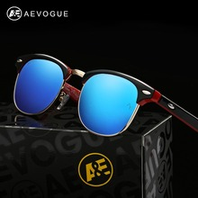 AEVOGUE Polarized Sunglasses Men Retro Rivet High Quality Polaroid Lens Summer Style Brand Design Unisex Sun Glasses CE AE0369