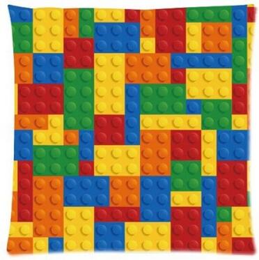 Luxury Printing Custom Funny Lego Blocks Bricks Square Pillowcase (Two Sides Printing) Throw Pillow - GMI Fashion trading Co., Ltd. store