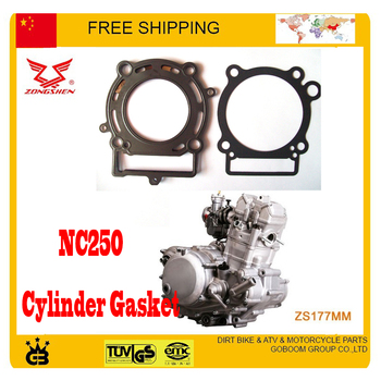 NC250 250CC ENGINE 4 valve ZONGSHEN ENGINE CYLINDER HEAD GASKET XT250R T6 xmotos kayo asian wing BSE dirt pit off road bike atv