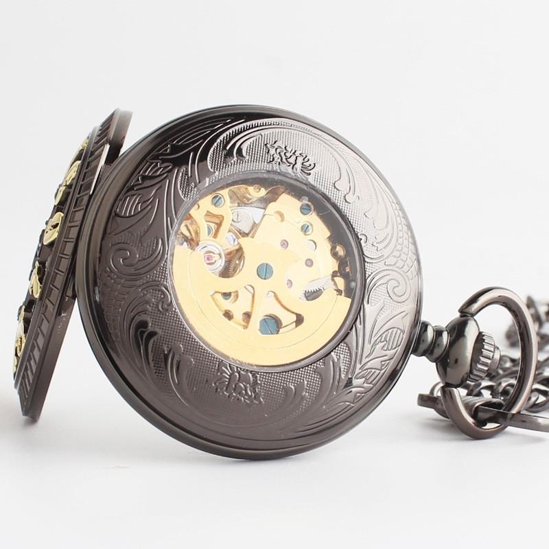 Ретро механические карманные часы раскладушка часы мужчины автоматические механические часы коллекции висит таблица Туо карманные часы