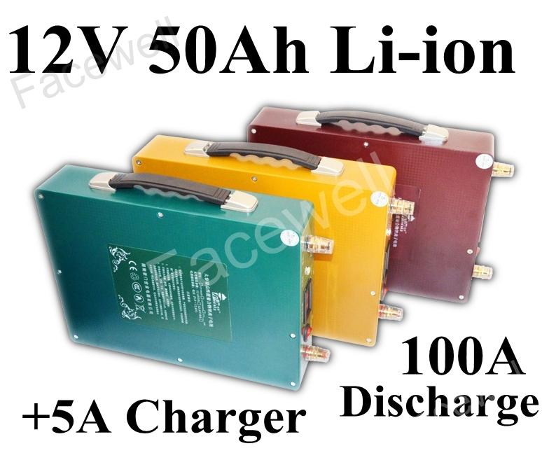 brand lithium ion 12v 50ah power supply backup battery pack li ion laptop power bank inverter. Black Bedroom Furniture Sets. Home Design Ideas