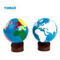 Baby Toys Montessori Earth Globe Plastic and Wood Material Learn to Know World Kids Early Learning