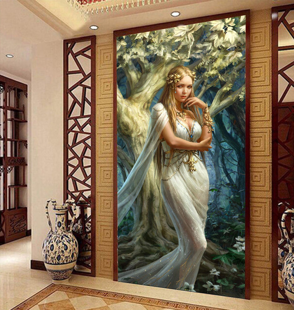 Porch corridor art figure canvas oil painting poster living room pictures on the wall Modular pictures Print cuadros decoracion(China (Mainland))