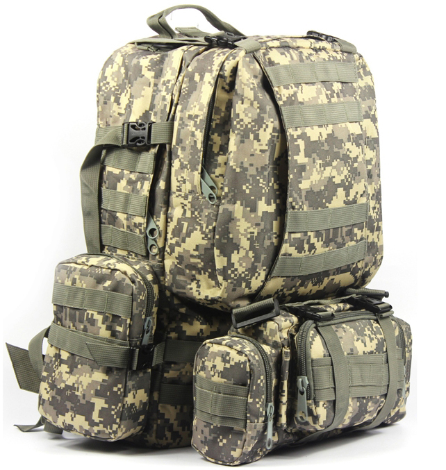 1000D Army fans outdoor tactical combination backpacking backpack shoulder bag large 50L ACU
