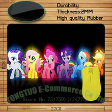 My Little Pony Mouse Pad Mouse Mat Computer Rectangular mouse pad Size 220x180x2(mm)