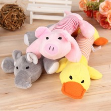 New Dog Toys Pet Puppy Chew Squeaker Squeaky Plush Sound Duck Pig & Elephant Toys 3 Designs Toys products HOT(China (Mainland))