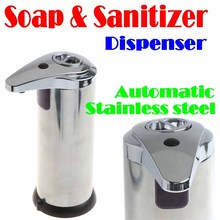 BY DHL OR EMS 200 PIECES Automatic stainless steel Sensor Soap & Sanitizer Dispenser Touch-free Kitchen Bathroom Wholesale #8647(China (Mainland))