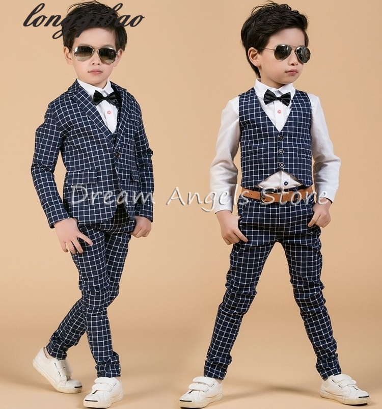 Fashion baby boys black and white casual blazers jacket boys suits for weddings formal flower boy clothing child kids prom suit(China (Mainland))