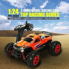 1:24 Remote Control RC Car 4WD 2.4G Professional Speedcross Crawler Dirt Bike RC Drift 2 Colors(China (Mainland))