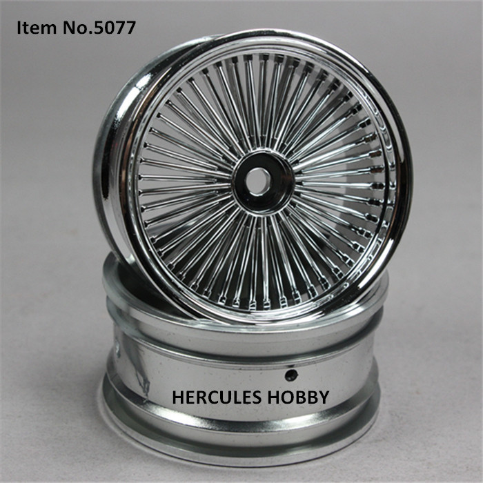 4pcs Plastic Wire Wheels Rims for RC Drift Touring On road Car 1/10(China (Mainland))