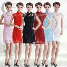 Buy Free Shipping!New Arrival Chinese Tradition Style Women's Lace Mini Cheong-sam Dress S M L XL XXL 3XL----SDR0046 for $21.89 in AliExpress store